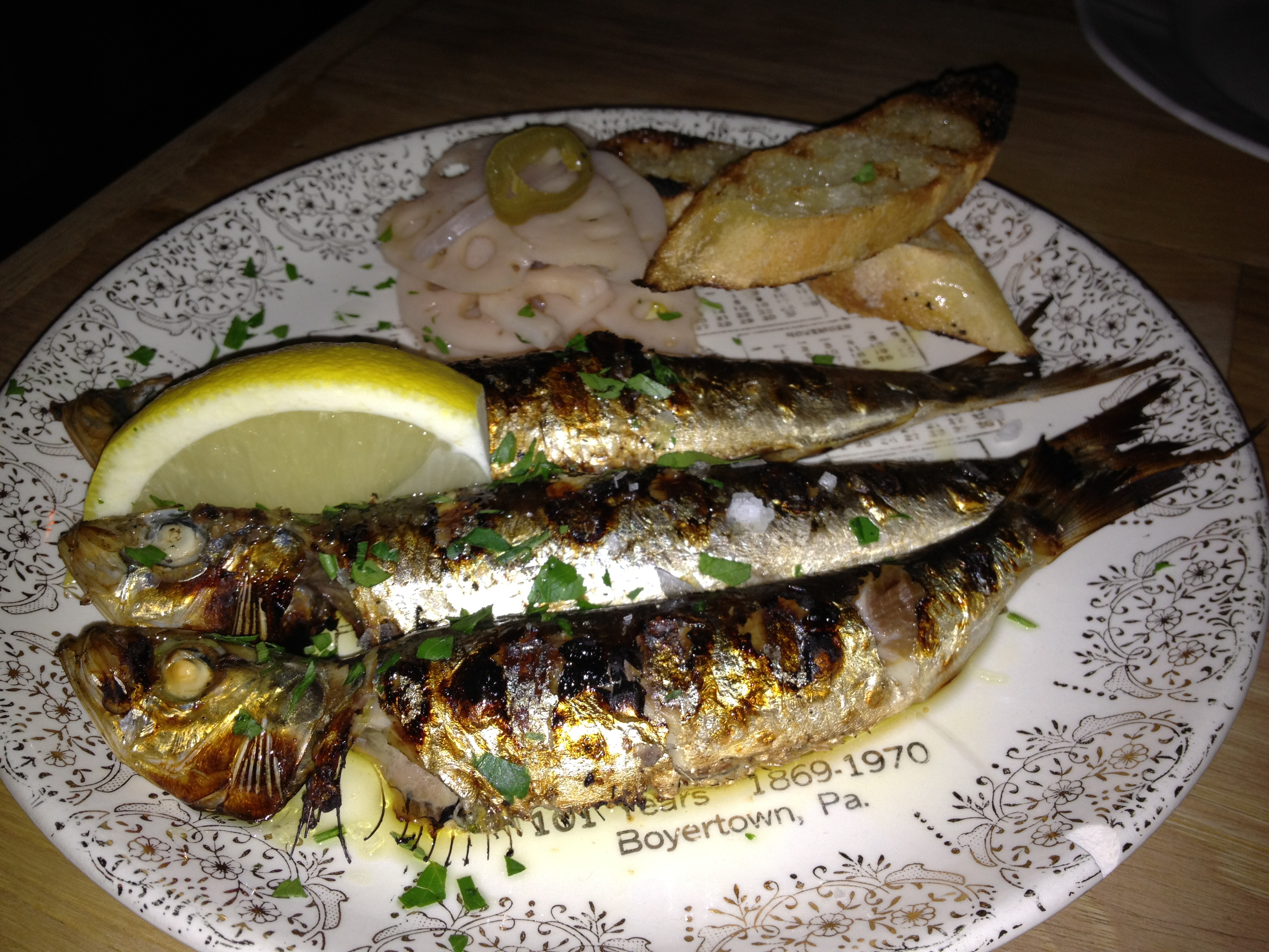 32 – GRILLED SARDINES at ST. ANSELM | Eat This NY