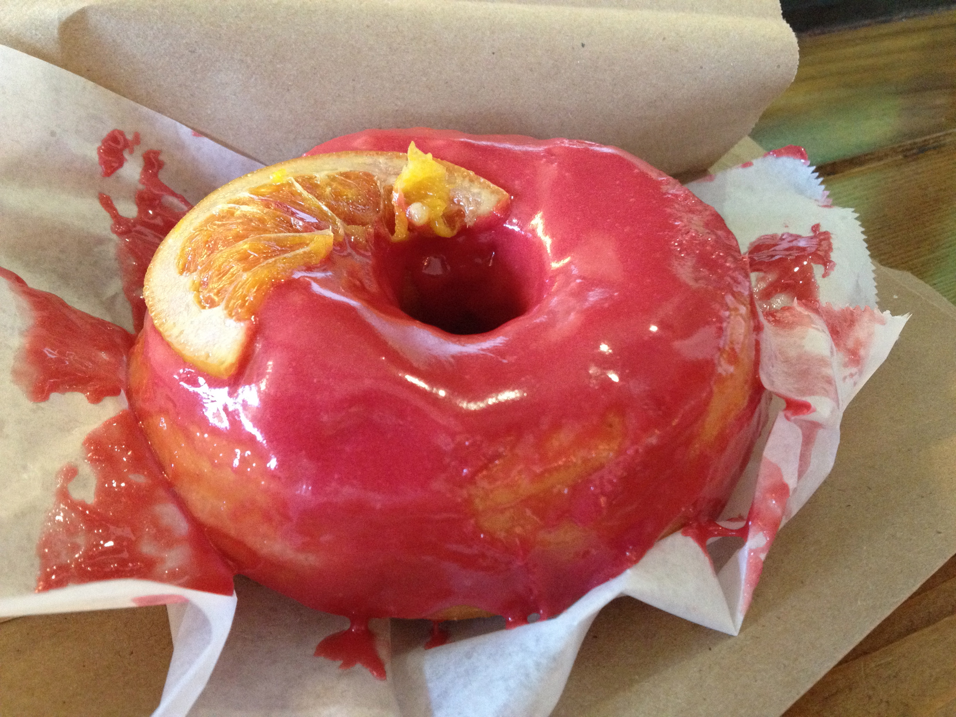 Blood Orange Doughnut at DOUGH