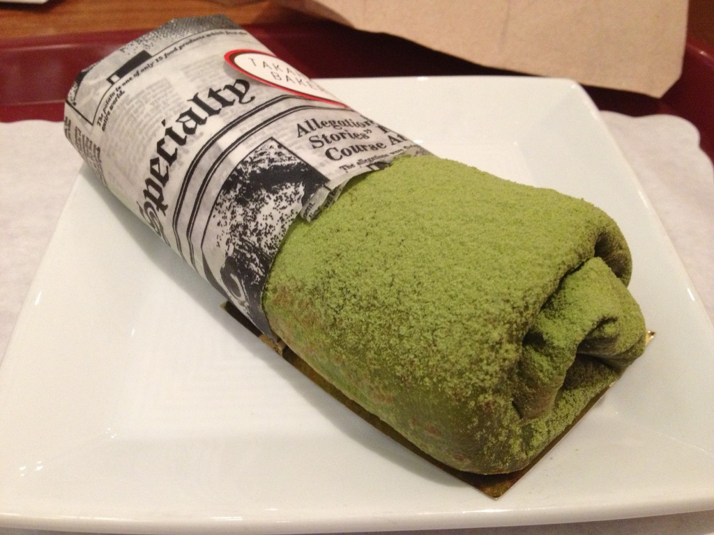 Green Tea Matcha Crepe at TAKAHACHI BAKERY