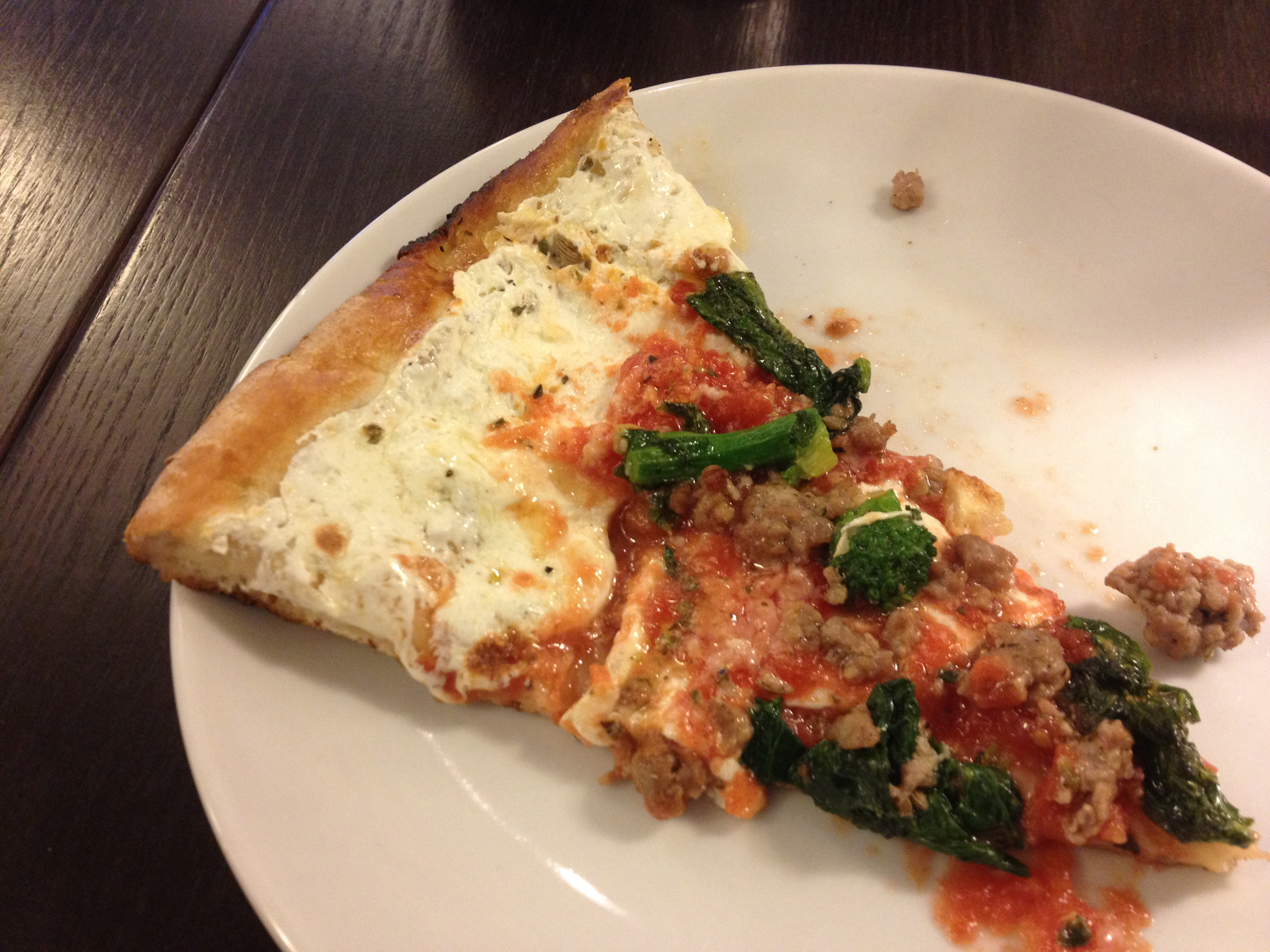 Sausage, Broccoli Rabe, Garlic Pie at JULIANA'S