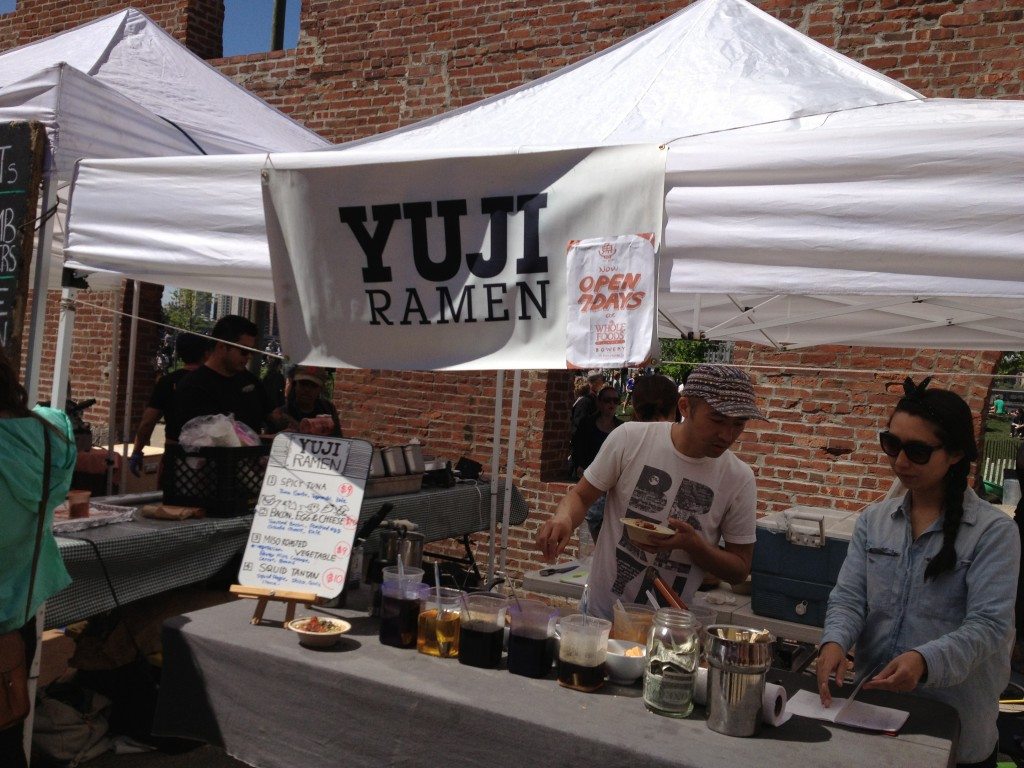 YUJI RAMEN, Smorgasburg, Tobacco Warehouse at Brooklym Bridge Park, Dumbo, Brooklyn
