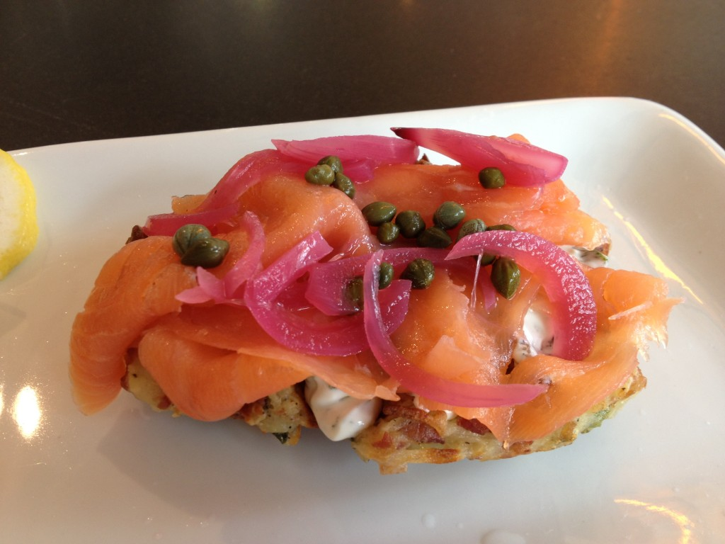 2nd Street Salmon Waffle at WAFELS & DINGES