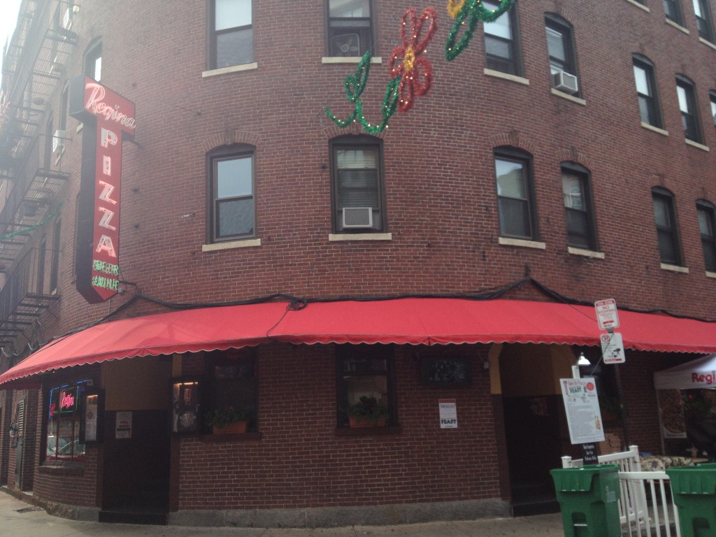 REGINA PIZZERIA, 11 1/2 Thacher Street, North End, Boston, Massachusetts