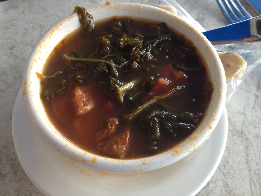 Portuguese Kale Stew at BOOKSTORE & RESTAURANT in Wellfleet
