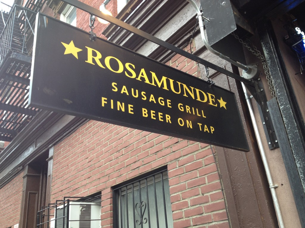 ROSAMUNDE SAUSAGE GRILL, 285 Bedford Avenue (between South 1st Street and Grand Street), Williamsburg, Brooklyn