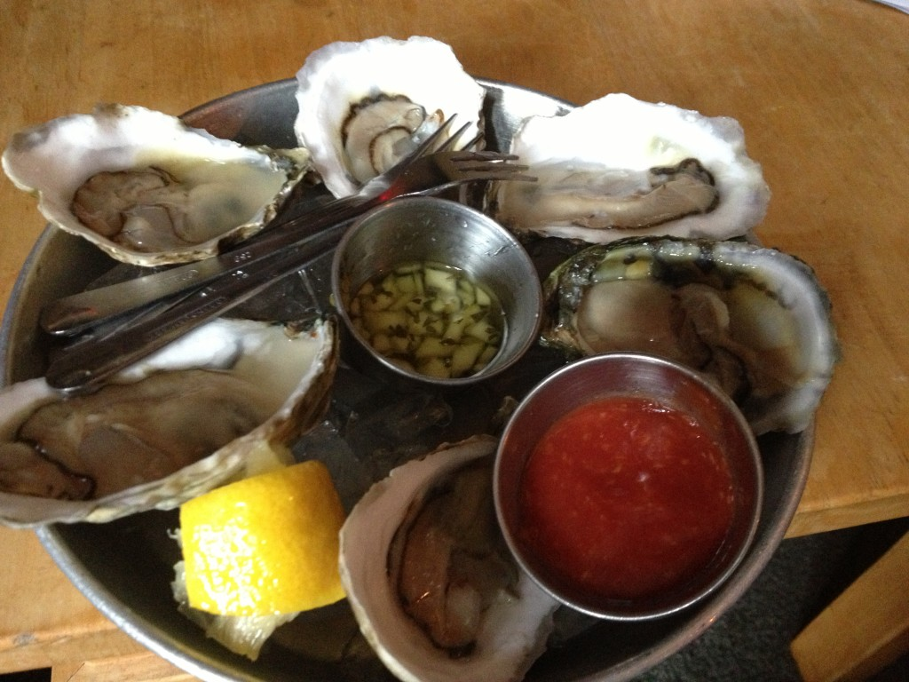 Wellfleet Oysters at WINSLOW'S TAVERN, Wellfleet, MA