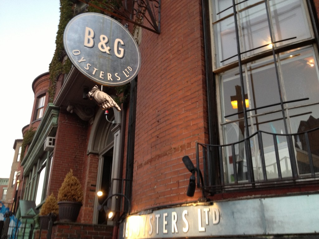 B&G OYSTERS, 550 Tremont Street (at Waltham Street), South End, Boston