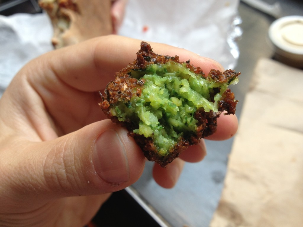 Green Falafel at TAÏM