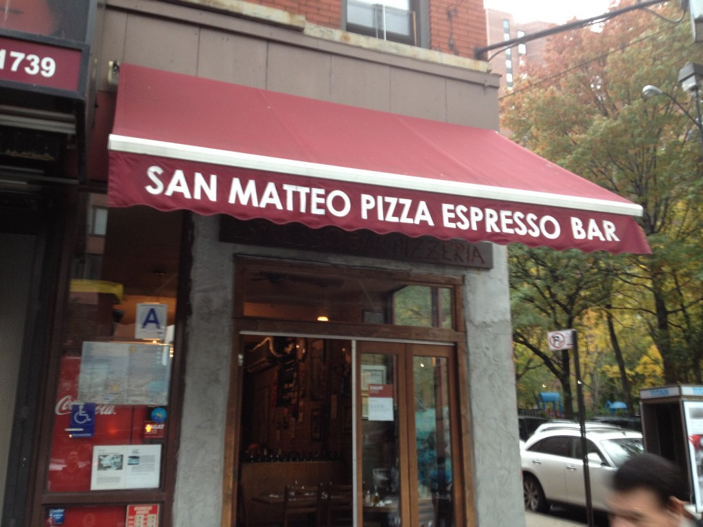 SAN MATTEO PIZZA AND ESPRESSO BAR, 1739 Second Avenue (at East 90th Street), Upper East Side