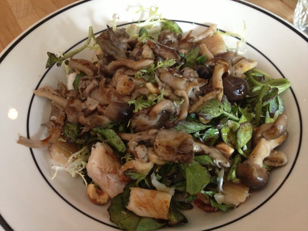 Smoked Trout & Wild Mushroom Salad at VAN HORN SANDWICH SHOP