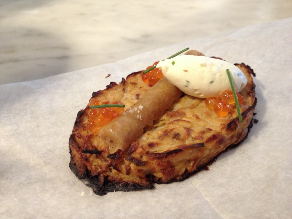 Potato Latke Tartine at BIEN CUIT