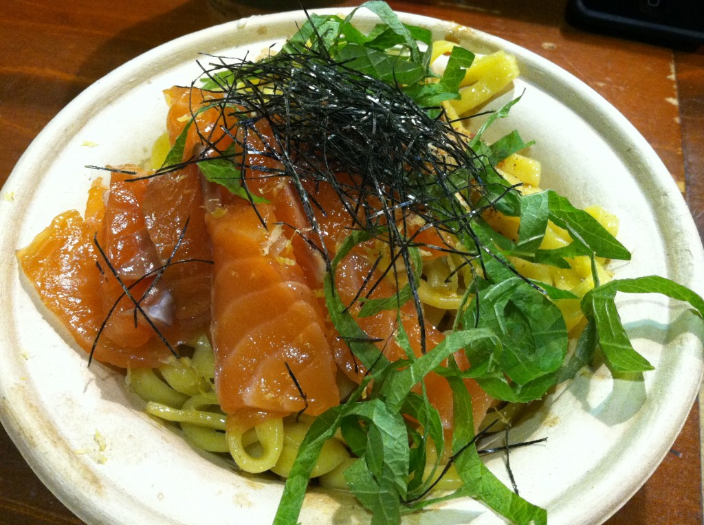Smoked Salmon Mazemen at YUJI RAMEN