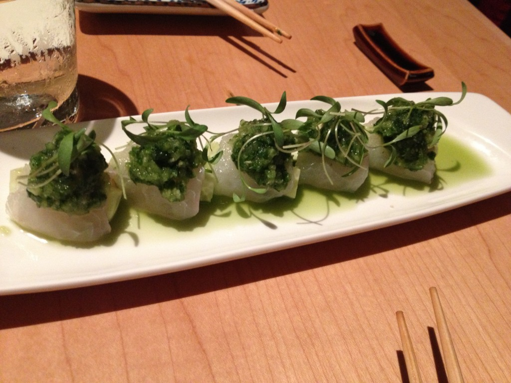 Hirame and Cucumber at NETA