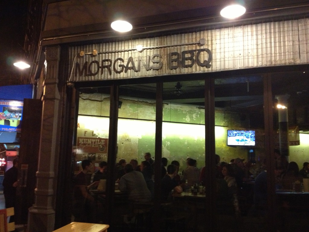 MORGAN'S BBQ, 267 Flatbush Avenue (at St. Marks Avenue), Prospect Heights, Brooklyn