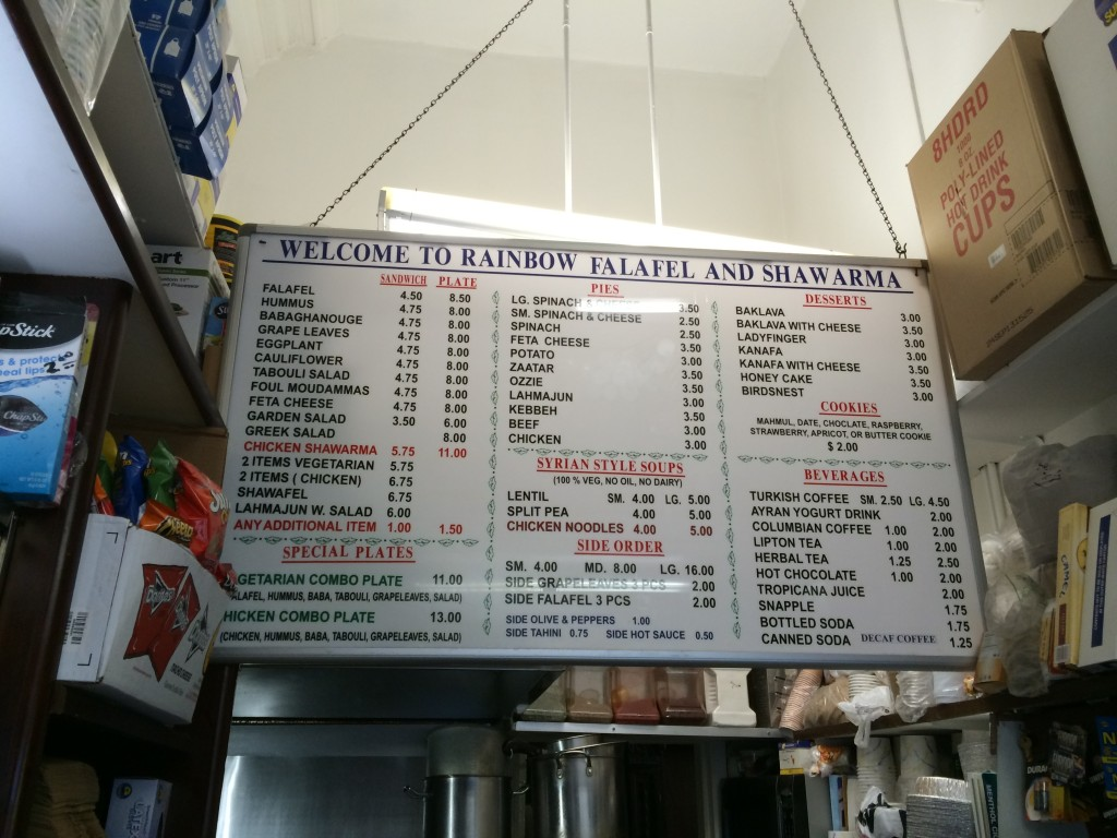 A Serious Menu For a Little Place