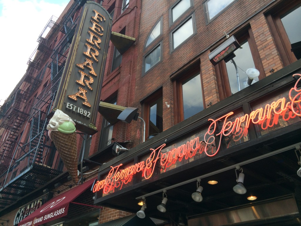 FERRARA BAKEY & CAFE, 195 Grand Street (between Mott and Mulberry Street), Little Italy
