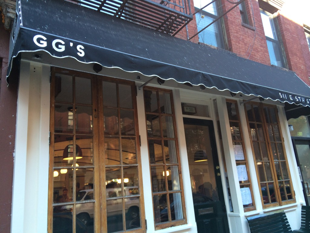 GG'S, 511 East 5th Street (between Avenue A and Avenue B), East Village