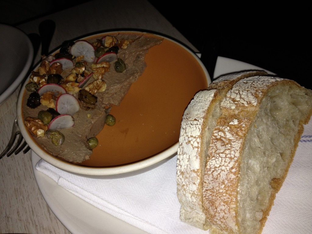 CHICKEN LIVER MOUSSE at CHARLIE BIRD