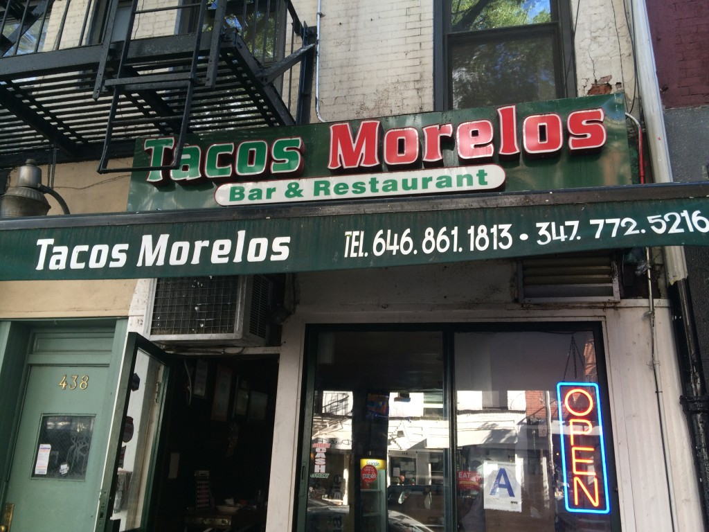 TACOS MORELOS, 438 East 9th Street (between First Avenue and Avenue A), East Village
