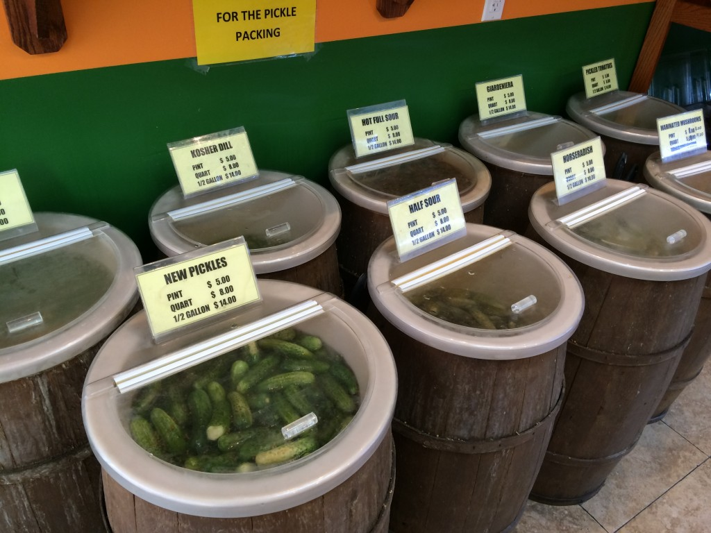 Pickles Olives and Barrels