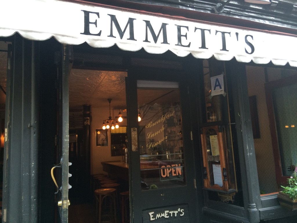 EMMETT'S, 50 Macdougal Street (between Prince and Houston Street), Soho