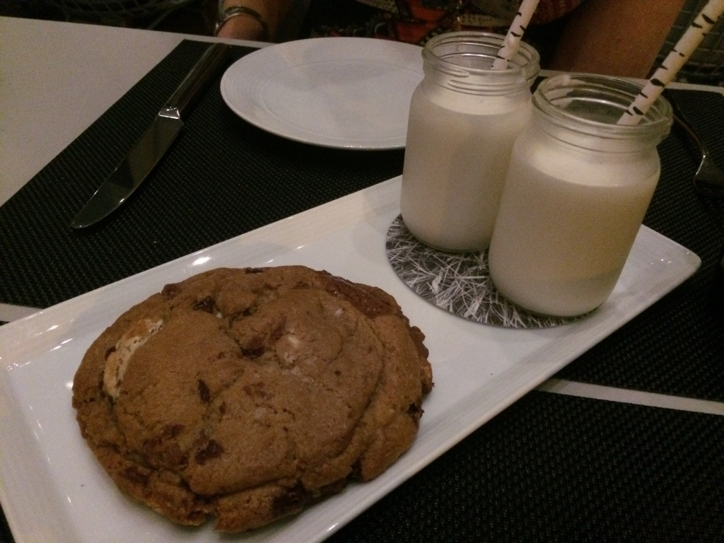 Triple Chocolat Chunk Cookie with Milk at UNTITLED