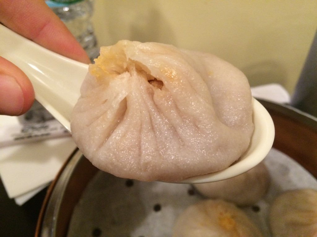 Pork and Crab Soup Dumplings at KUNG FU LITTLE STEAMED BUNS RAMEN