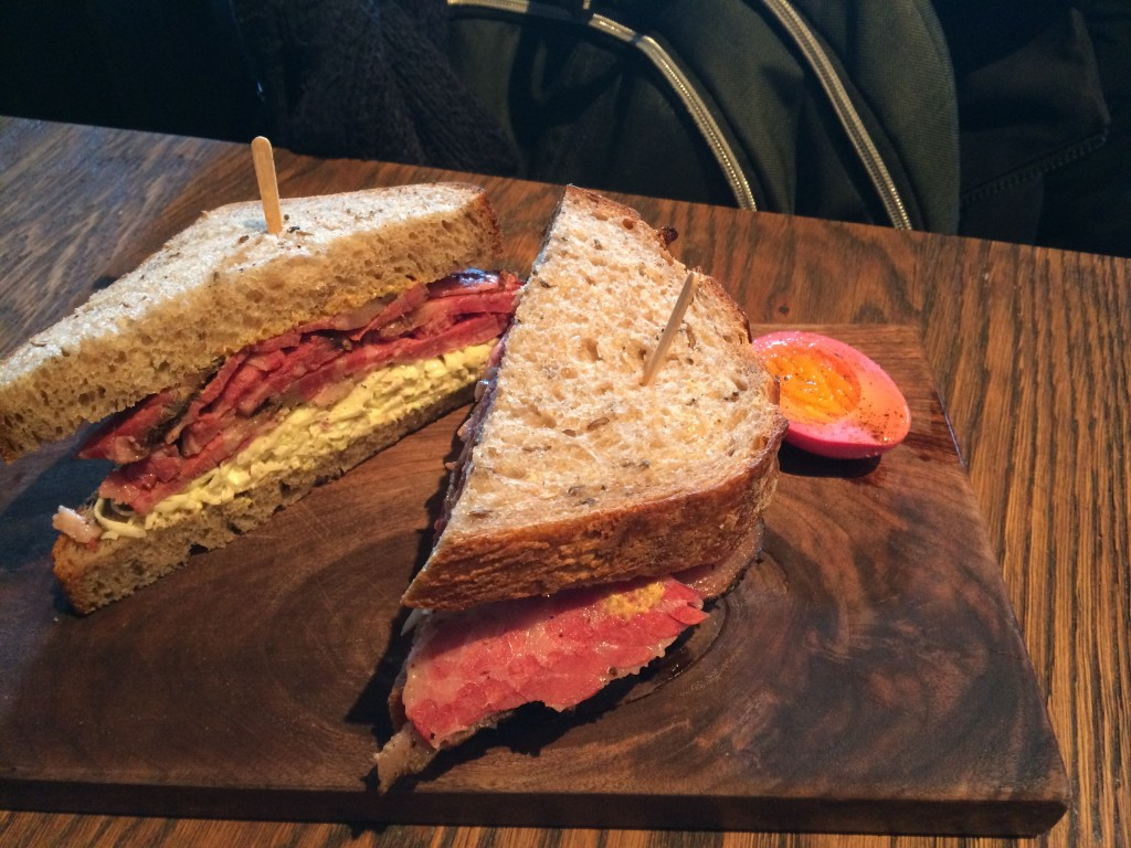 Pastrami on Rye at HIGH STREET ON HUDSON